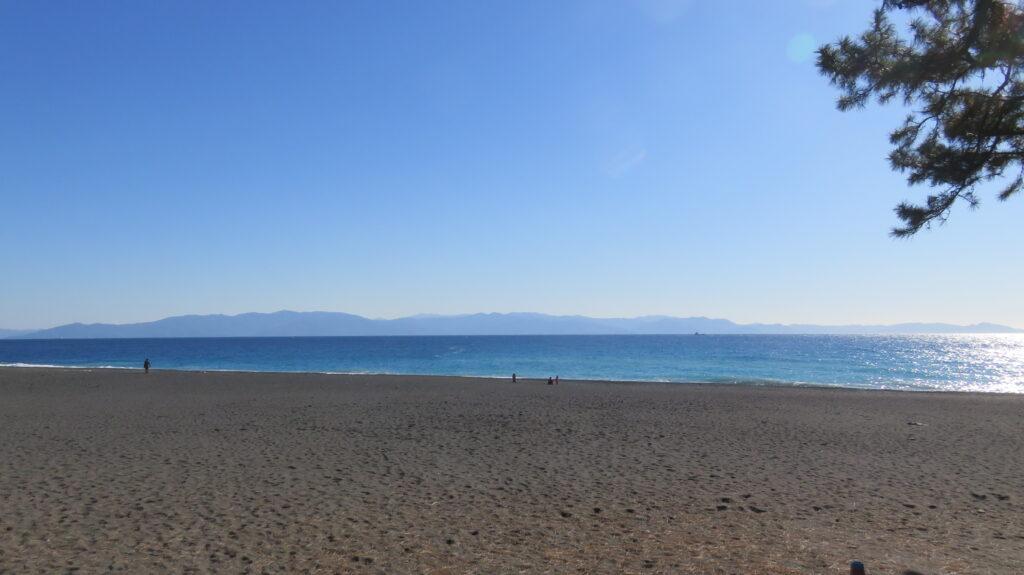 三保海岸から見える伊豆半島